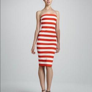 Robert Rodriguez graphic striped dress 0